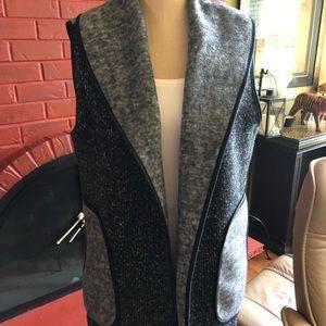 Chico's gray and black vest. Sz 2/ large.